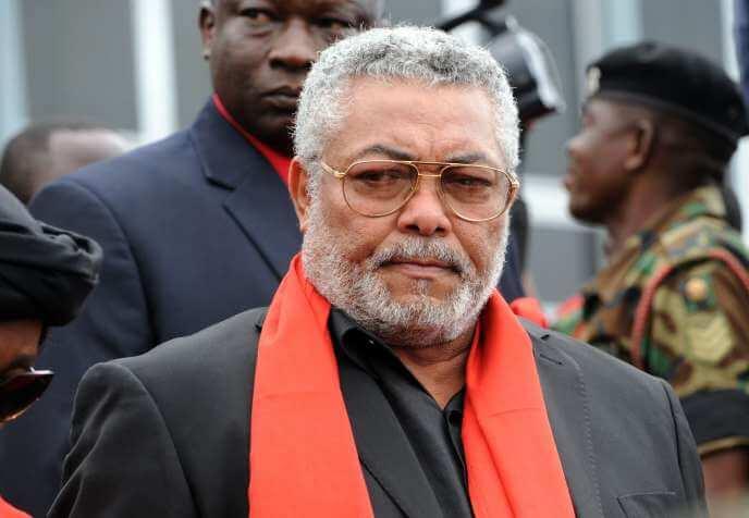 L'ancien président du Ghana, Jerry Rawlings, le 8 août 2012 à Accra, la capitale ghanéenne. PIUS UTOMI EKPEI / AFP